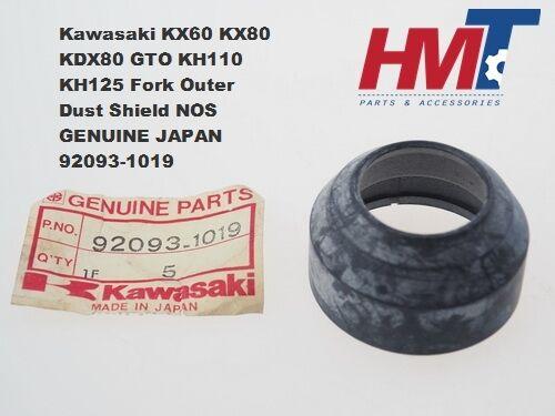 Kawasaki KX60 KX80 KDX80 GTO KH110 KH125 Fork Outer Dust Shield 92093-1019 NOS