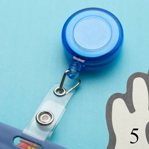 1pc 6 Colors Retractable Ski Pass ID Card Anti-Lost Office Badge Holder