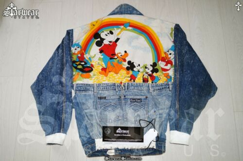 🔥Vtg Disney Mickey Mouse Leather Denim Too Cute J