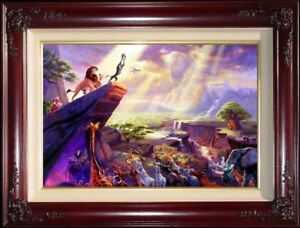 Thomas-Kinkade-The-Lion-King-18x27-Gallery-Proof-Framed-Limited-Canvas-Disney
