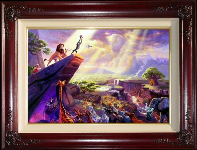 Thomas Kinkade The Lion King 18x27 Gallery Proof Framed Limited Canvas Disney