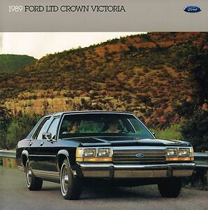 Image Is Loading  Ford Ltd Crown Victoria Brochure Catalog Lx