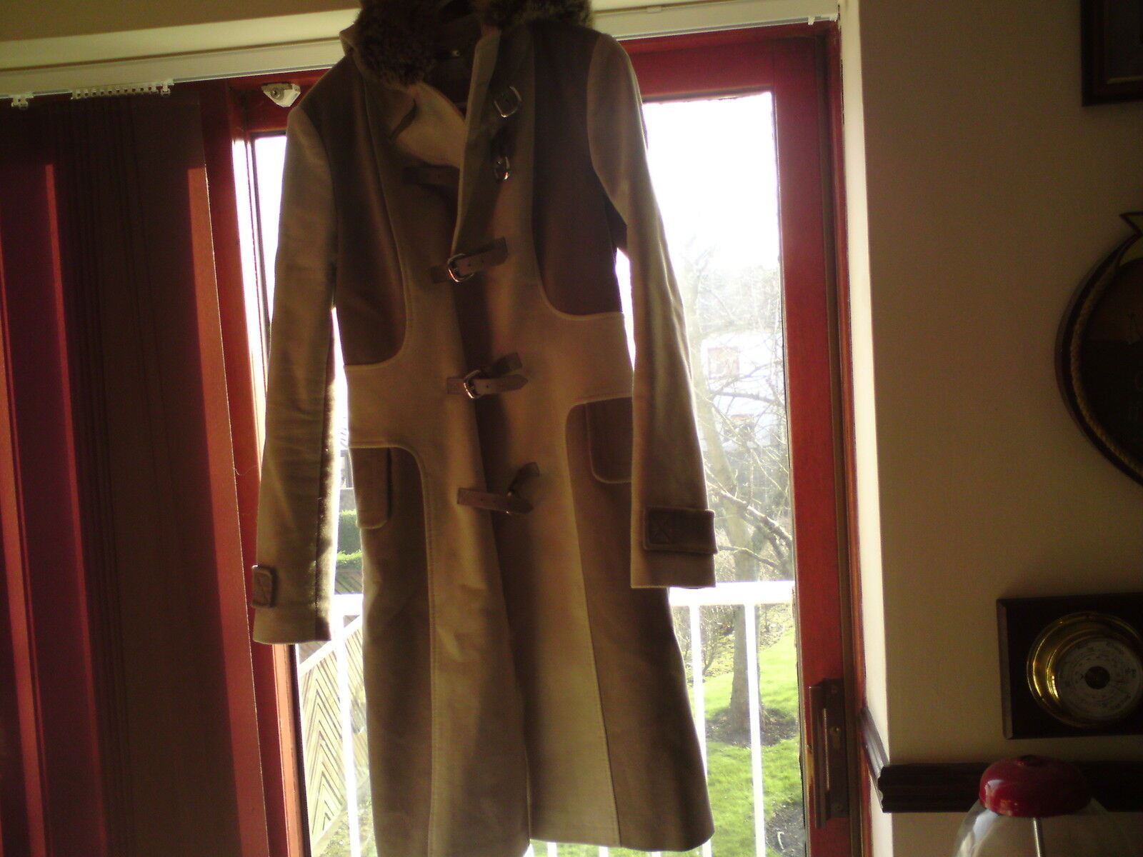 Karen Millen Coat Size 8 Beautiful Two Tone Grey.,  .SEE-BELOW.