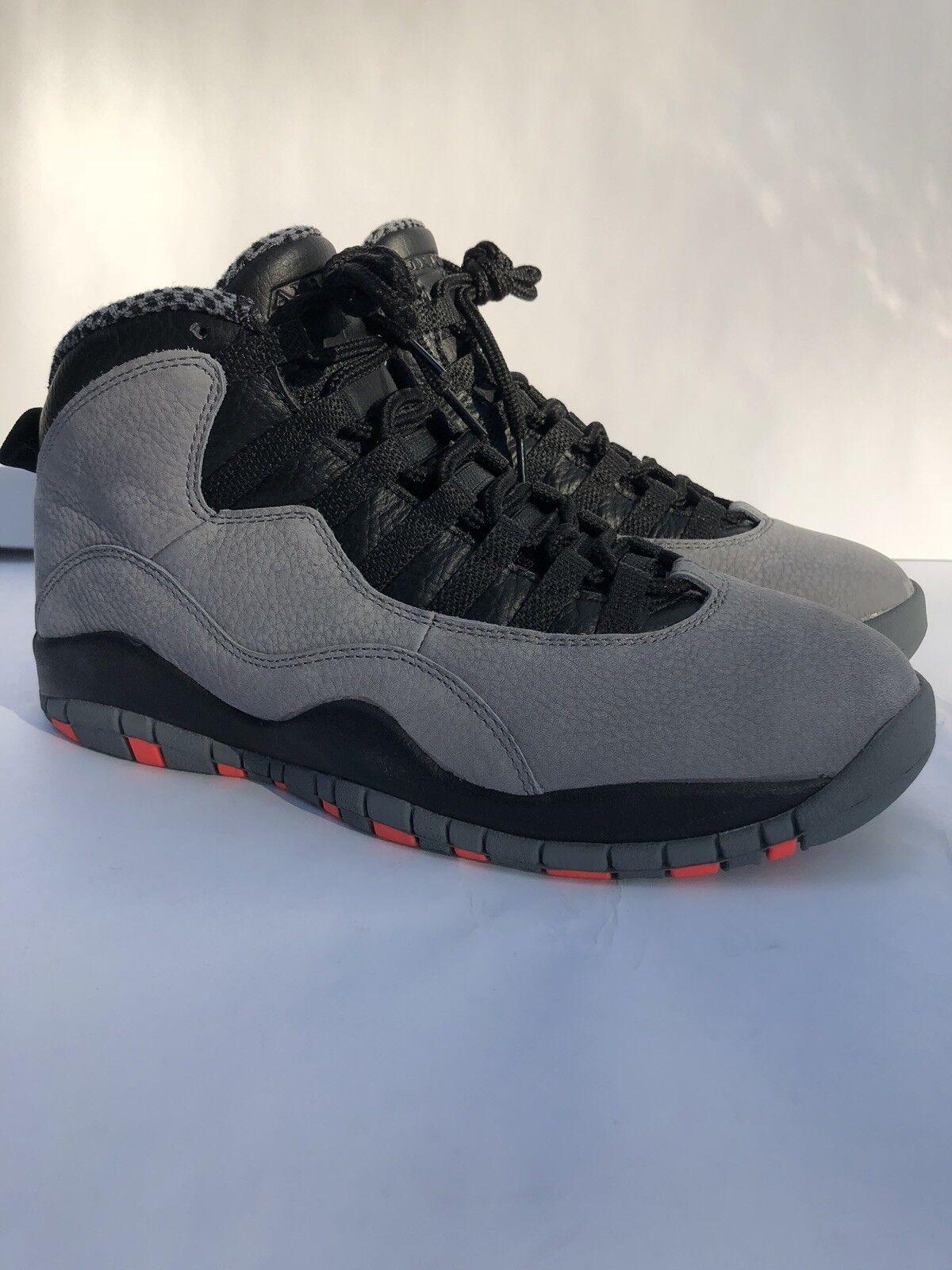 Deadstock Uomo's NIB Nike Air Jordan 10 X SZ 8.5 Grey Infrared 1 11 3 4 6 XI I
