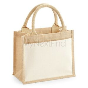 Westford Mill Cotton Pocket Jute Gift Bag