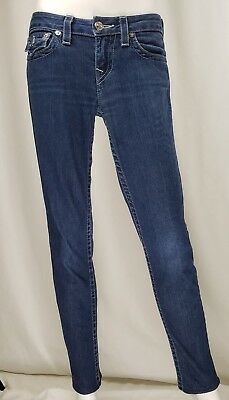 True Religion Womens Skinny Blue Denim Jeans Size 27 4 6 S