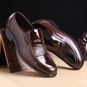Men-039-s-Business-Office-Formal-Work-Oxfords-Leather-Loafers-Casual-Dress-Shoes