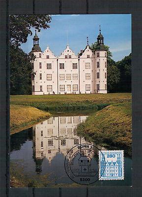 "1142 Esst Bonn 15.07.1982 Novel Design; Brd In Maximumkarte ""burgen & Schlösser"" Minr"