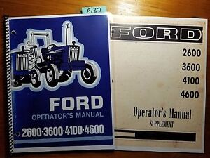 Ford-2600-3600-4100-4600-Tractor-1975-1981-Owner-Operator-Manual-Supplement