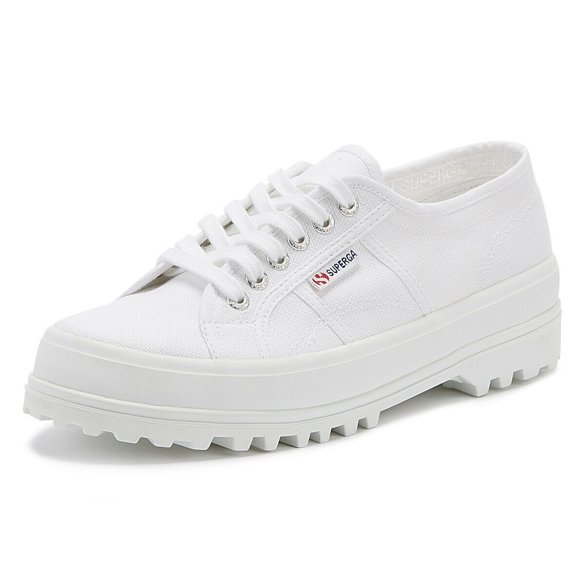 Superga 2555 Cotu Womens White Trainers Ladies Sport Casual shoes