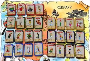 Set complet cartes Astérix - Le village en fête Super U