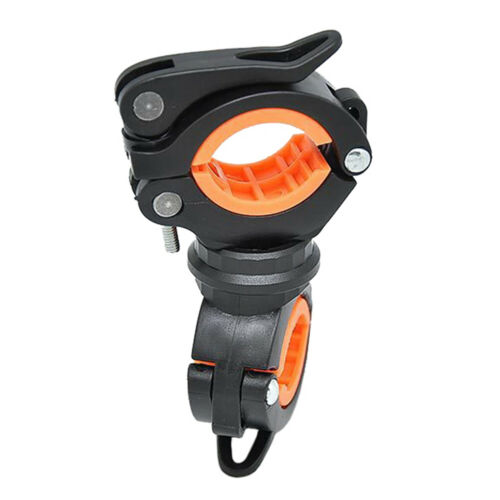 360 Degree Bike LED Flashlight Mount Holder Lamp Stand Bicycle Torch Clip Clamp