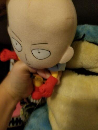 "**Legit** One Punch Man Anime Plush B-Class Hero /""Caped Baldy/"" SD Saitama #52218"