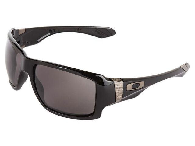 bc4051aa167 Oakley Big Taco Polished Black Frame Warm Grey Lens Sunglasses OO 9173 01