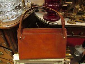 Alt-Handtasche-Frau-Vintage-Leder-Gepaeck-Einkaufen
