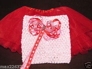 New-RED-tutu-crochet-6-034-top-amp-heart-BOW-VALENTINES-baby-size-newborn-12-months