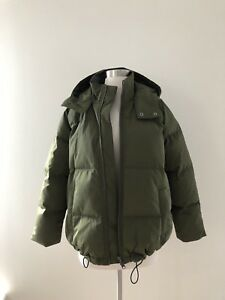 b297b8aca31 NEW Madewell $228 quilted down puffer parka In Olive Size XXS XS ...