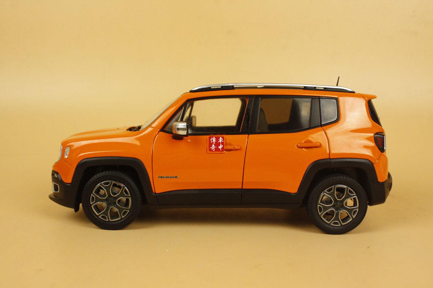 1 18 new jeep renegade orange color diecast model. Black Bedroom Furniture Sets. Home Design Ideas