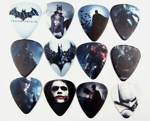 5 X Batman Guitare Médiators 0.46 Mm épaisseur-afficher Le Titre D'origine