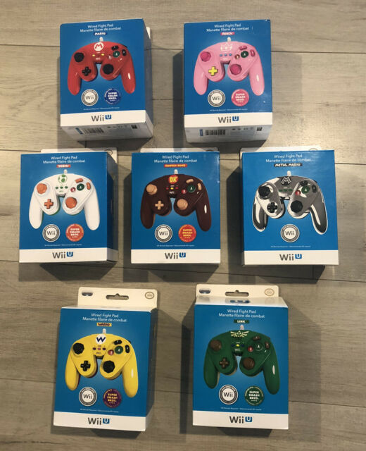 Rare Nintendo Wii U Wired Fight Pad Bundle 7 x GameCube Style Controller
