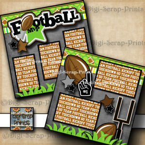 football mvp 2 premade scrapbook pages paper piecing sports boy