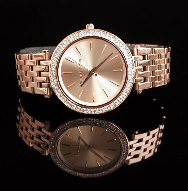 Original Michael Kors Reloj Mujer MK3192 Darci Acero Inox. en Color: Rose Gold