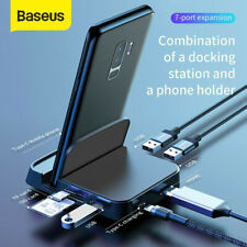 Baseus 7in1 Type C to USB-C HDMI USB 3.0 Hub Hub Adapter Cable For Apple Macbook