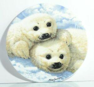 Sammelteller-The-Collectors-Treasury-Baby-Seals-Seehund-Babys-Zertifikat-OVP