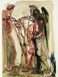 Dali Salvador: Fegefeuer 11 - Holz Graviert Original #1960-1963# Divine Komödie