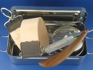 Geschenk-Set-Rasiermesser-mit-Box-Abziehleder-und-Rasierschale-Solingen-Paste