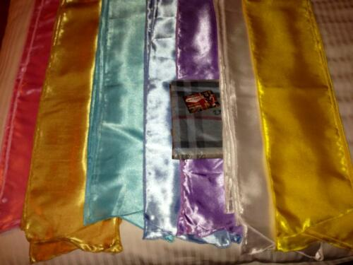 20 Elvis ETA satin Jumpsuit scarves17 colors scarf .2-3 days delivery uk to usa