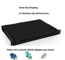 24 Fibers Rack Mounted Fiber Optic Terminal Box,24 Core patch panel with adapter