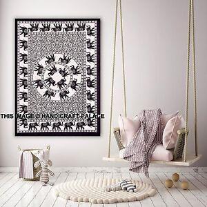 Indian-Elephant-Tapestry-Wall-Hanging-Mandala-Hippie-Handmade-Cotton-Poster-Boho