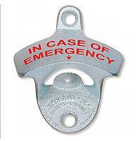 Wall Mounted Bottle Opener - 'in Case Of Emergency'