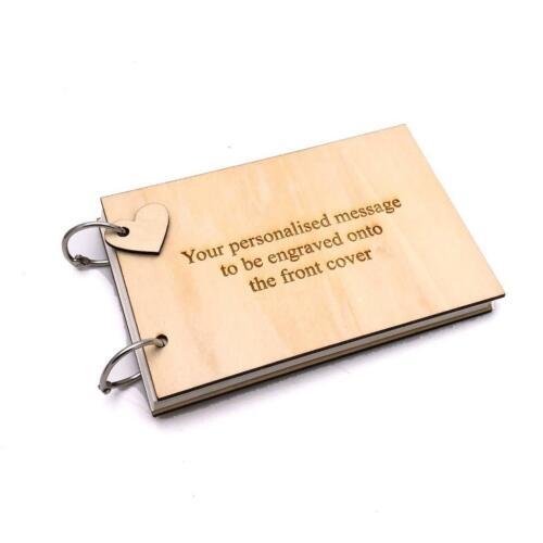 Personalised cualquier Grabado libro de chatarra álbum de fotos libro de visitas WOD-28