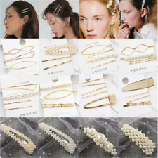 Fashion Pearl Hair Clip Hairband Comb Bobby Pin Barrette Hairpin Headdress