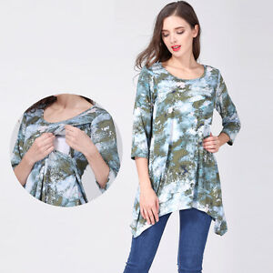 017cadd7d18 Image is loading Loose-Maternity-Clothes-Nursing-Breastfeeding-Tops-Blouses- Pregnancy-