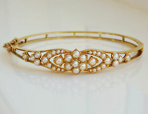 Finest Antique Victorian 15ct Gold Pearl set Hinged Bangle c1895 in Fitted Case - <span itemprop=availableAtOrFrom>Hamilton, United Kingdom</span> - Returns will only be given if item is returned in the same condition as sent. We will accept returns on items purchased as 'Fixed Price' or 'Buy it Now' items. We do NOT accept r - Hamilton, United Kingdom