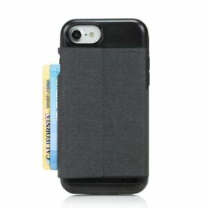 best loved 7f9a3 c142d Details about Incipio Esquire iPhone 8 7 6s 6 Wallet Card Case Cover  Heather Black/Dark Grey