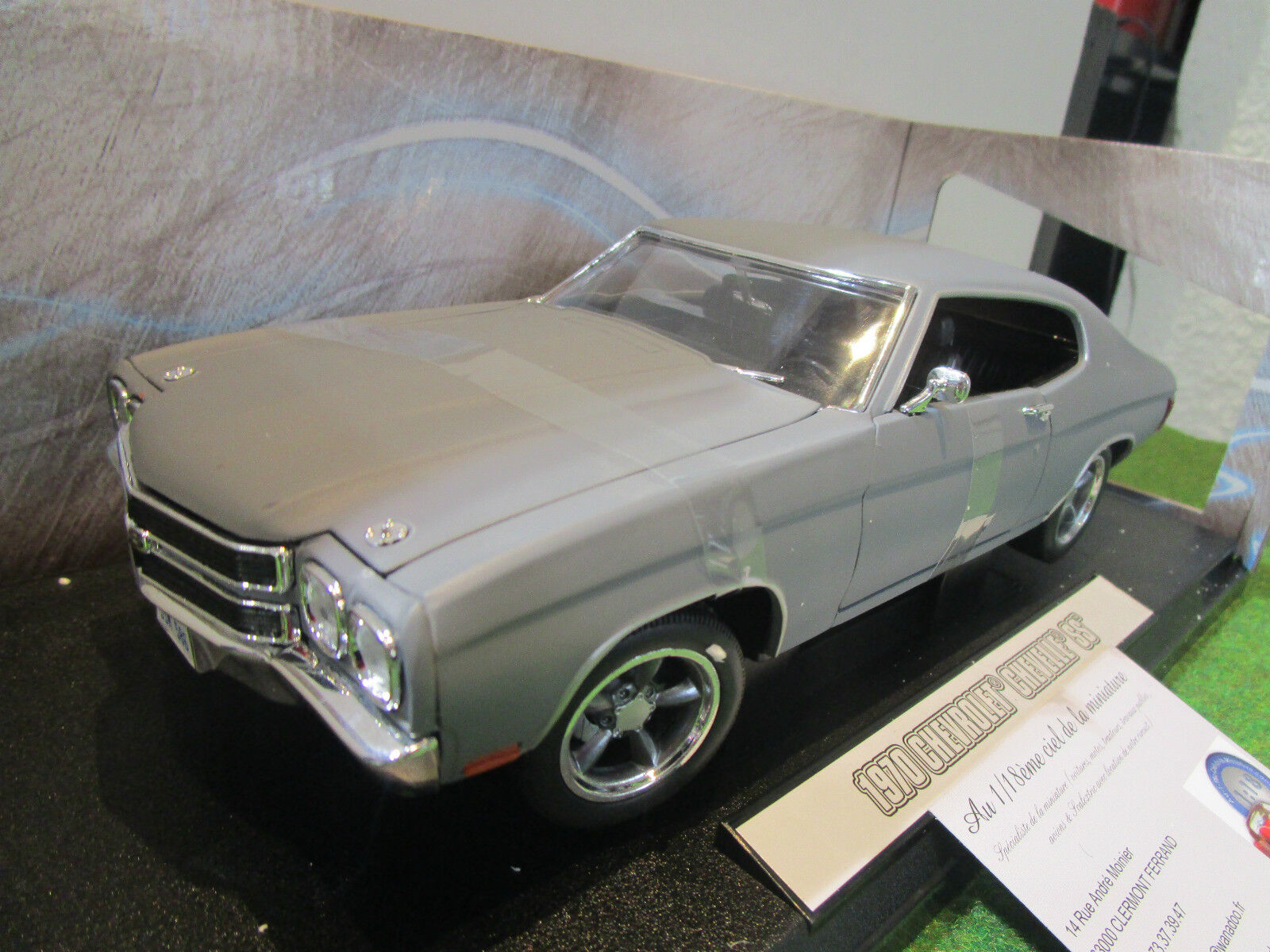 CHEVROLET CHEVELLE SS de 1970   FAST and FURIOUS   Dom's o 1 18 vertLIGHT 12946