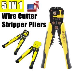 1 Auto Wire Striper Cutters Electrician Stripper Crimper Plier Terminal Tool