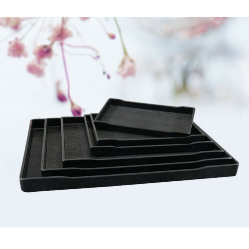1pc Melamine Tray European Style Tea Serving Tray Hotel Guest Room Black #H