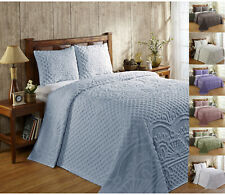 Better Trends Trevor 100% Cotton Tufted Chenille Bedspread & Sham Set