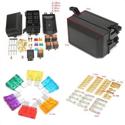 Car Truck Plastic+Metal Fuse Box 6 Relay Socket Holder 5 Road Insurance Holder