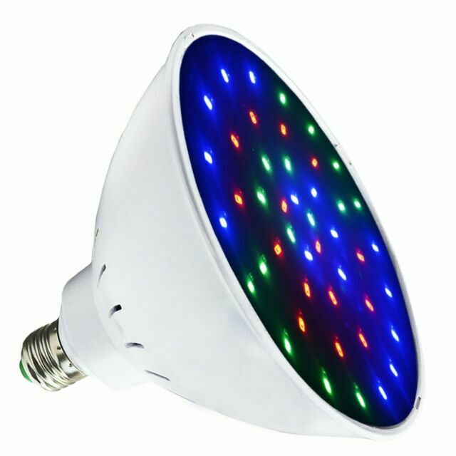 Moker Waterproof 120V LED Pool Light Bulb for Inground Swimming Pool,Color-Change 468Pcs SMD2835 LEDs RGB IP68 Switch Control or Remote,Compatible With Pentair and Hayward Pool Light Fixtures 120VAC