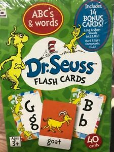 Seuss Raymond Geddes Seuss Flash Cards ABCs /& Words by Dr Dr