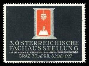 L'autriche Poster Stamp - 1927-graz - 3rd Autrichien Hospitalité Trade Show-afficher Le Titre D'origine