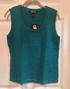 NWT-Turquoise-Sweatervest-By-Spirited-Randolph-Duke-Size-Large