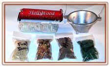 Aluminum Cauldron Incense Burner Charcoal and 4 Resin, Sage & Charcoa Kit travel