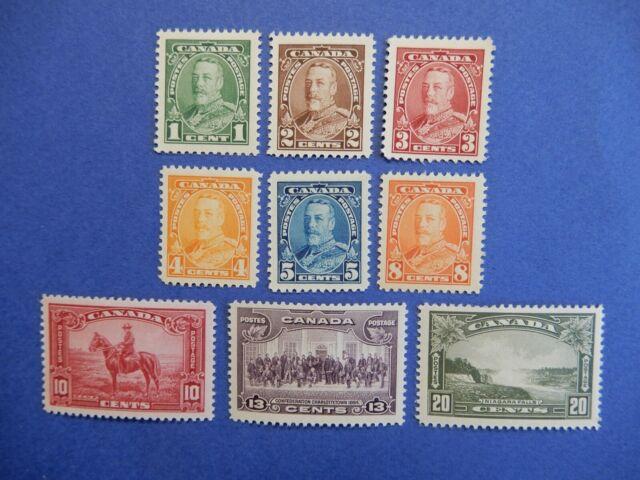 #217-225 MOGH  superb, fresh King George V Pictorial Issue, 1935  CV=$50.00